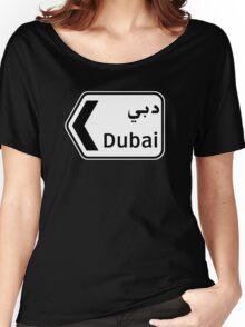 Dubai, Traffic Sign, United Arab Emirates Women's Relaxed Fit T-Shirt