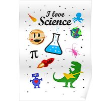 I Love Science (black version) Poster