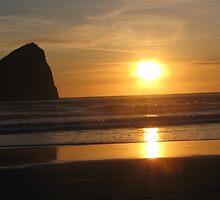 Rock at Sunset by Sam John