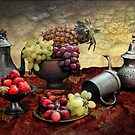 Pineapple and Grapes  by Irene  Burdell