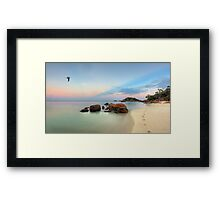 A Walk in Paradise Framed Print
