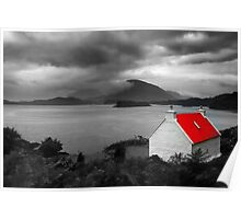 Bright Red Roof Poster