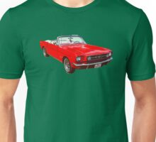 1965 Red Ford Mustang Convertible Unisex T-Shirt