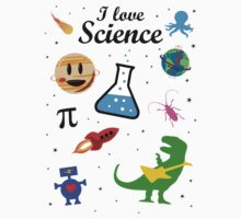 I Love Science (black version) Kids Clothes