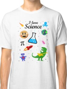 I Love Science (black version) Classic T-Shirt