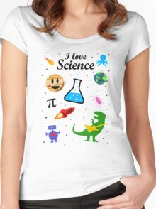 I Love Science (black version) Women's Fitted Scoop T-Shirt