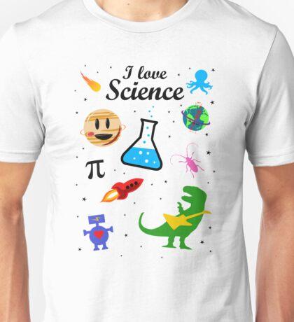 I Love Science (black version) Unisex T-Shirt