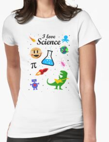 I Love Science (black version) Womens Fitted T-Shirt