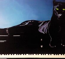 """BLACK PANTHER & HIS PIANO"" by Manuel Sanchez"