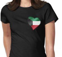 Kuwaiti Flag - Kuwait - Heart Womens Fitted T-Shirt