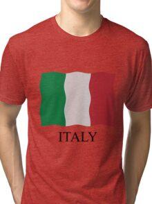 Italian flag Tri-blend T-Shirt