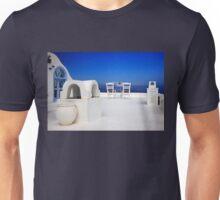 Have a seat at Firostefani - Santorini island Unisex T-Shirt