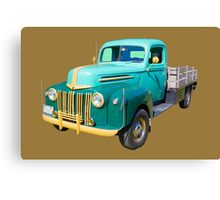 Old Flat Bed Ford Work Truck Canvas Print