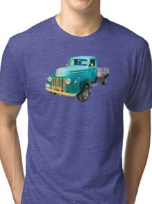 Old Flat Bed Ford Work Truck Tri-blend T-Shirt