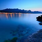 Giardini Naxos - Blue hour shore by cicciofarmaco