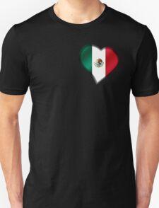 Mexican Flag - Mexico - Heart T-Shirt