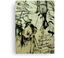 Pinocchio's Murder  ( Nursery Cryme Series )  Canvas Print