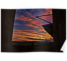 Silo Sunset - hdr Poster