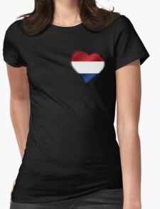Dutch Flag - Netherlands - Heart Womens Fitted T-Shirt