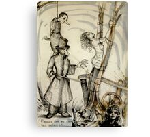 Pinocchio & The Blue Fairy ( Nursery Cryme Series )  Canvas Print