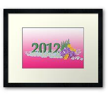 new year 2012 Framed Print
