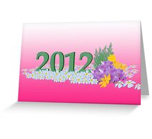 new year 2012 Greeting Card