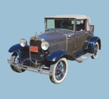 Model A Ford Roadster Convertible Antique Car One Piece - Short Sleeve