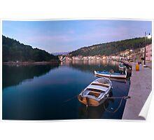 Calm sea in port Poster