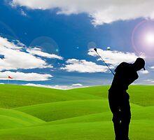 golf fairway by hinnamsaisuy