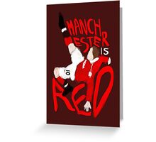 Manchester is Red Greeting Card
