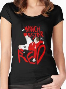 Manchester is Red Women's Fitted Scoop T-Shirt