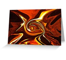Autumnal Hearth Abstract ... Greeting Card