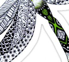 Zentangle Emerald Dragonfly Sticker