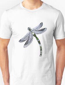 Zentangle Emerald Dragonfly T-Shirt
