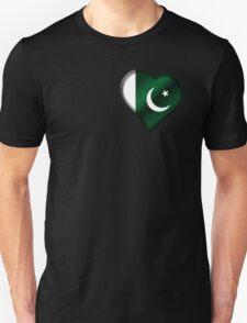 Pakistani Flag - Pakistan - Heart T-Shirt