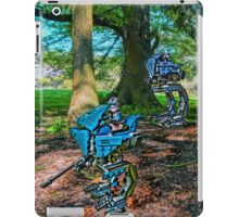 A pair of Lego Star Wars AT-RTs on patrol by Tim Constable iPad Case/Skin