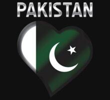 Pakistan - Pakistani Flag Heart & Text - Metallic by graphix