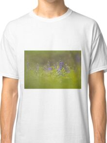 Selective focus on a cluster of Blue lupin (Lupinus pilosus) Classic T-Shirt