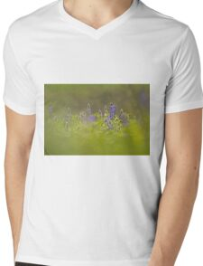 Selective focus on a cluster of Blue lupin (Lupinus pilosus) Mens V-Neck T-Shirt