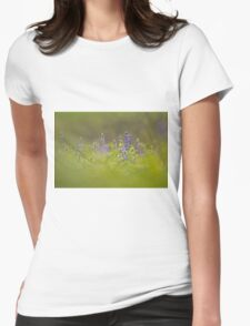Selective focus on a cluster of Blue lupin (Lupinus pilosus) Womens Fitted T-Shirt