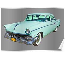 1956 Ford Custom Line Antique Car Poster