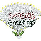 Season's Greetings Coral by Tamara Clark