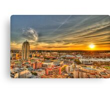 Sunset over Sydney Canvas Print