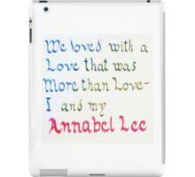 Annabel Lee iPad Case/Skin