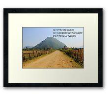 dusty road Framed Print