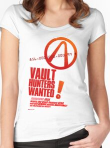 Borderlands 2 Vault Hunters Wanted! Women's Fitted Scoop T-Shirt