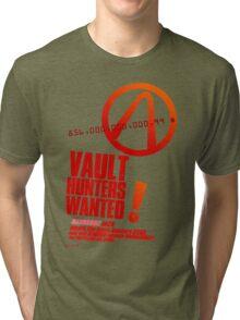 Borderlands 2 Vault Hunters Wanted! Tri-blend T-Shirt