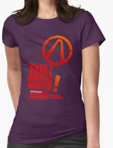 Borderlands 2 Vault Hunters Wanted! Womens Fitted T-Shirt