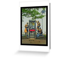 GCHQ listening post by Banksy Greeting Card