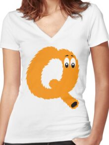 Q!#?@! Women's Fitted V-Neck T-Shirt